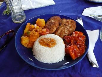 Essen in Kim's Restaurant in Jambiani