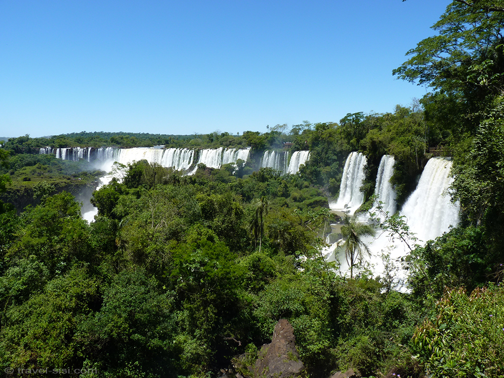 Iguazu Fälle Argentinien Ausblick von einem Wanderweg
