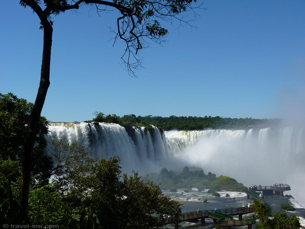 Iguacu Fälle Brasilien Besucherplattform