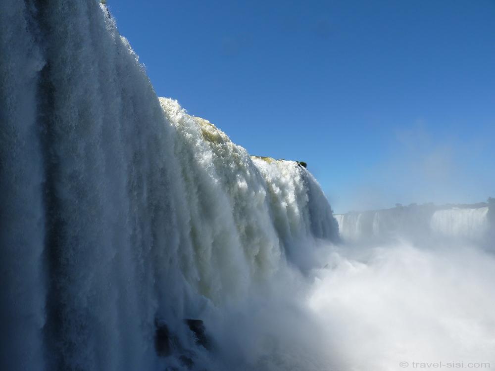 Iguazu Fälle Brasilien Wassermassen