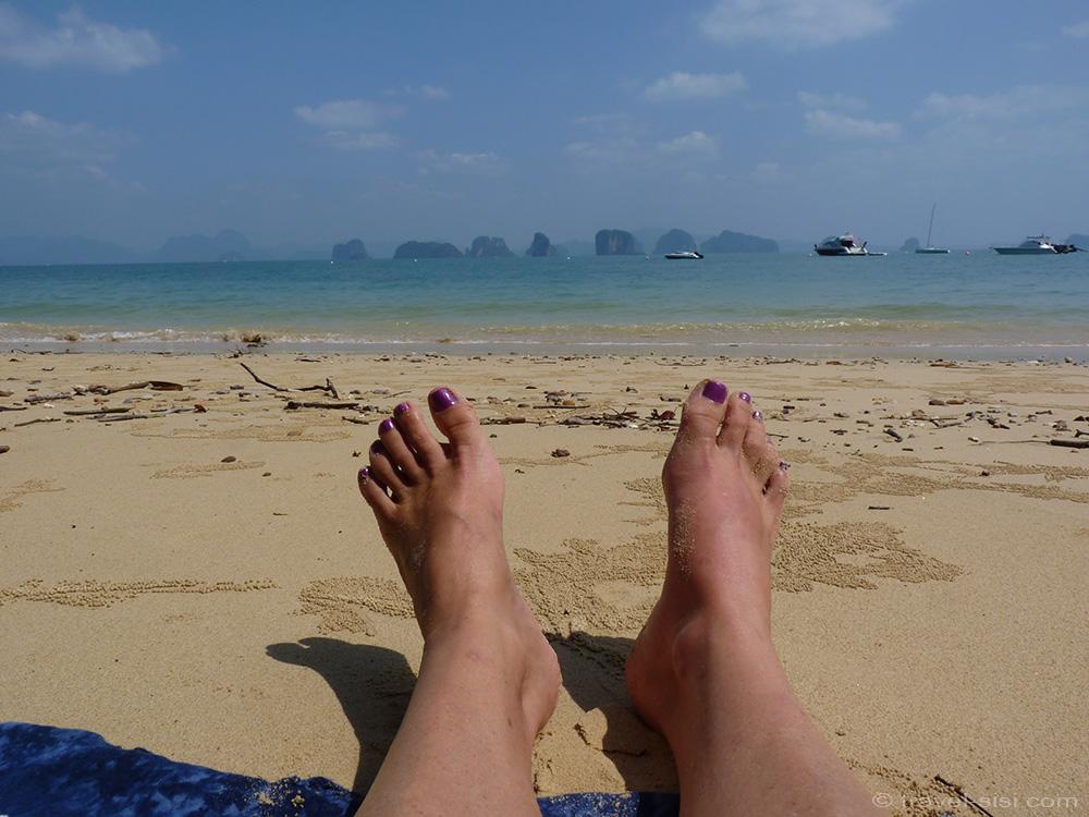 Chillen am Strand von Koh Yao Noi