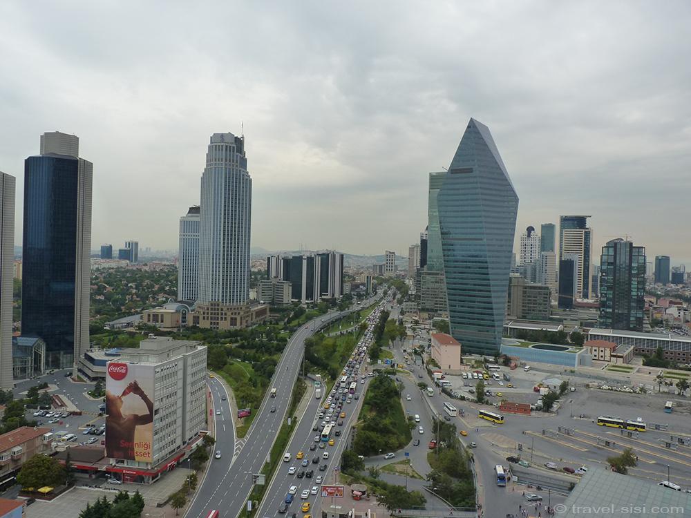 Aussicht 20. Stock Mövenpick Istanbul
