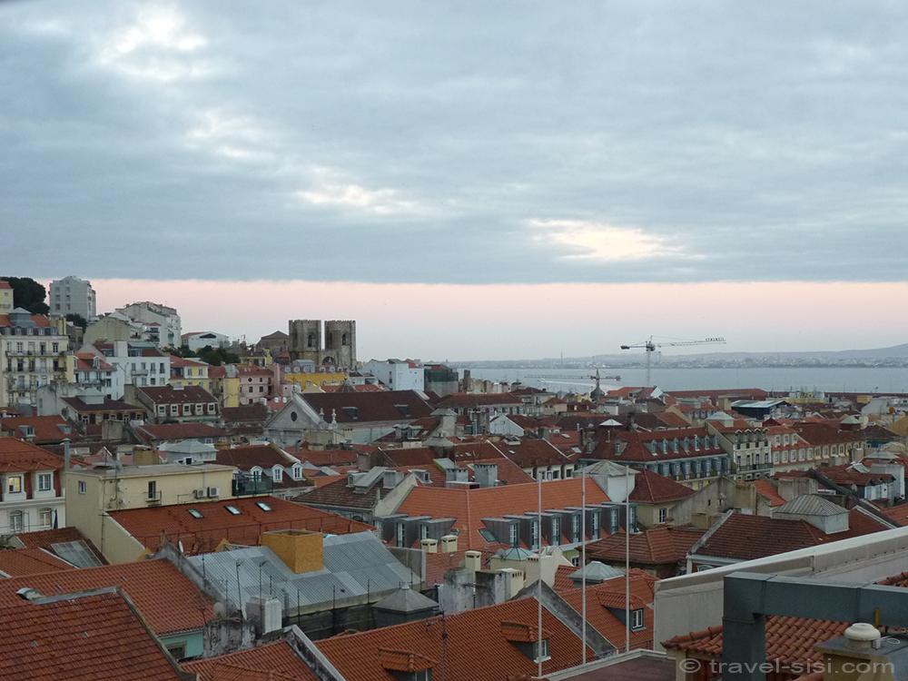 Blick über Lissabon elevador de santa justa