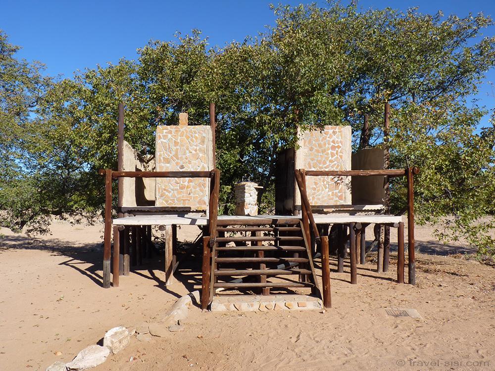 Badezimmer Camping Namibia