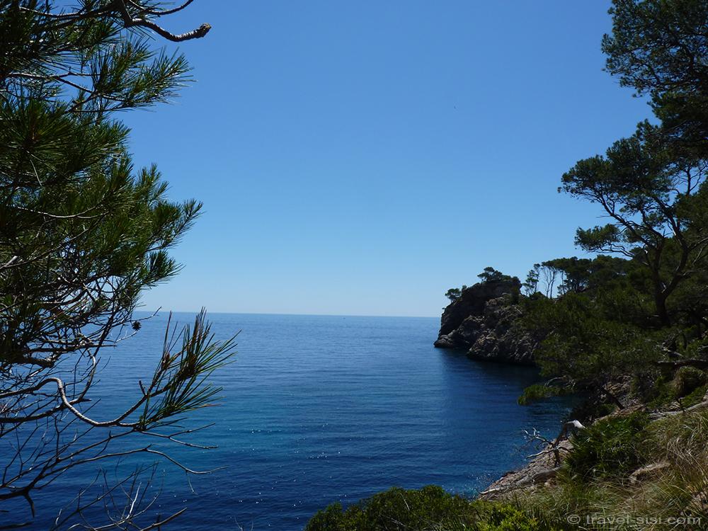 Blick aufs Meer in der Nähe der Cala Murta Mallorca