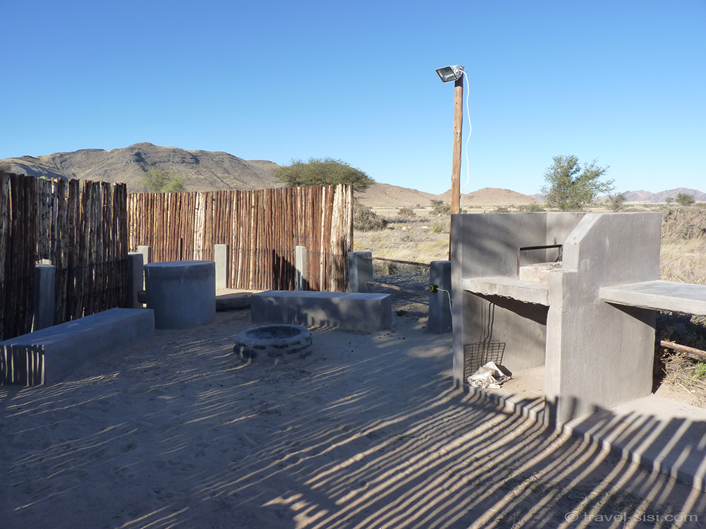 Küche beim campen in Namibia