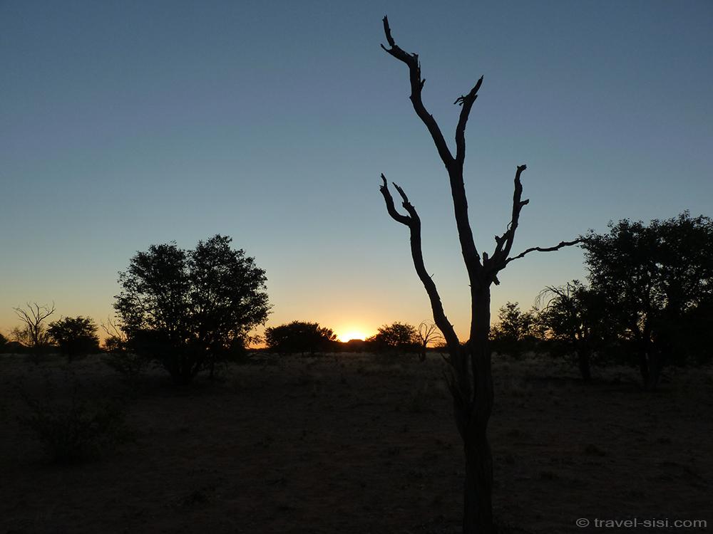 Sonnenuntergang Camping Namibia