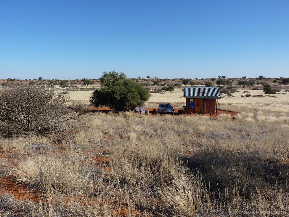 Viel Platz beim campen in Namibia