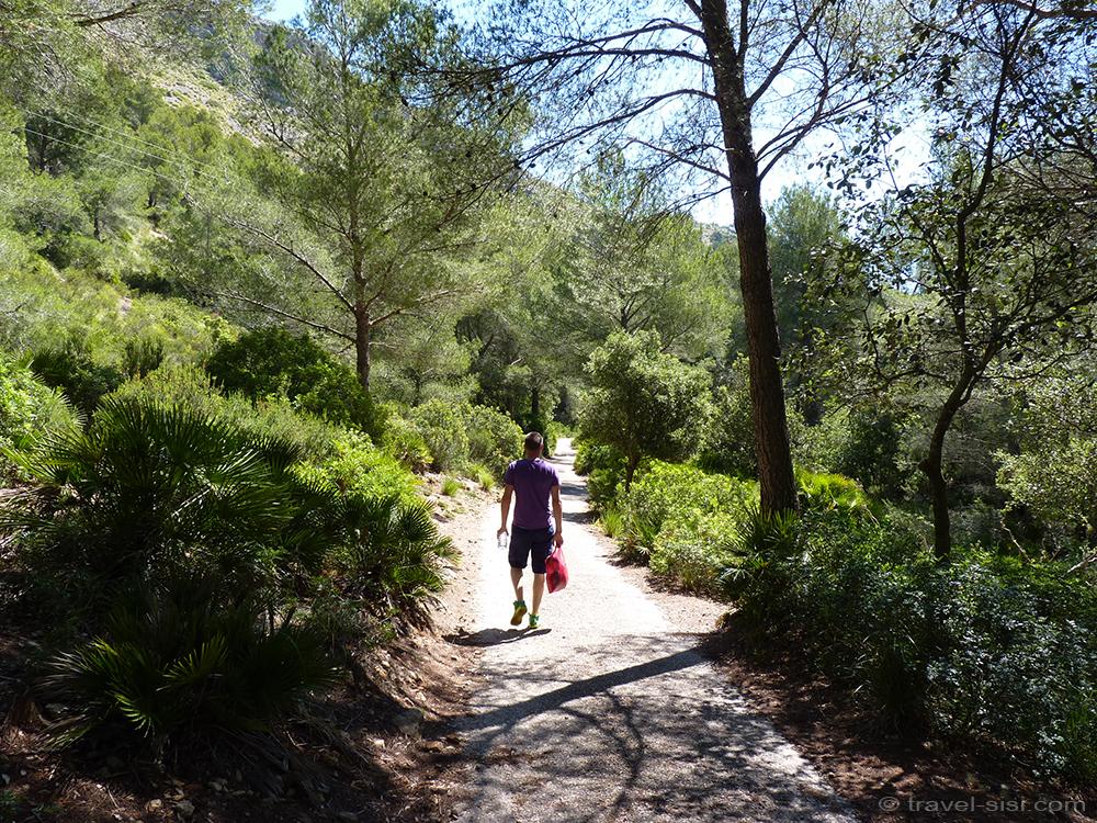 Weg zur Cala Murta Mallorca