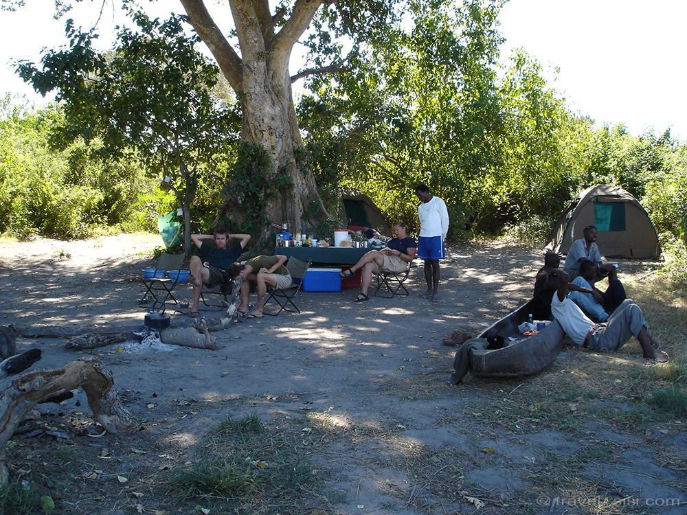 Campsite Okavango Delta Botswana