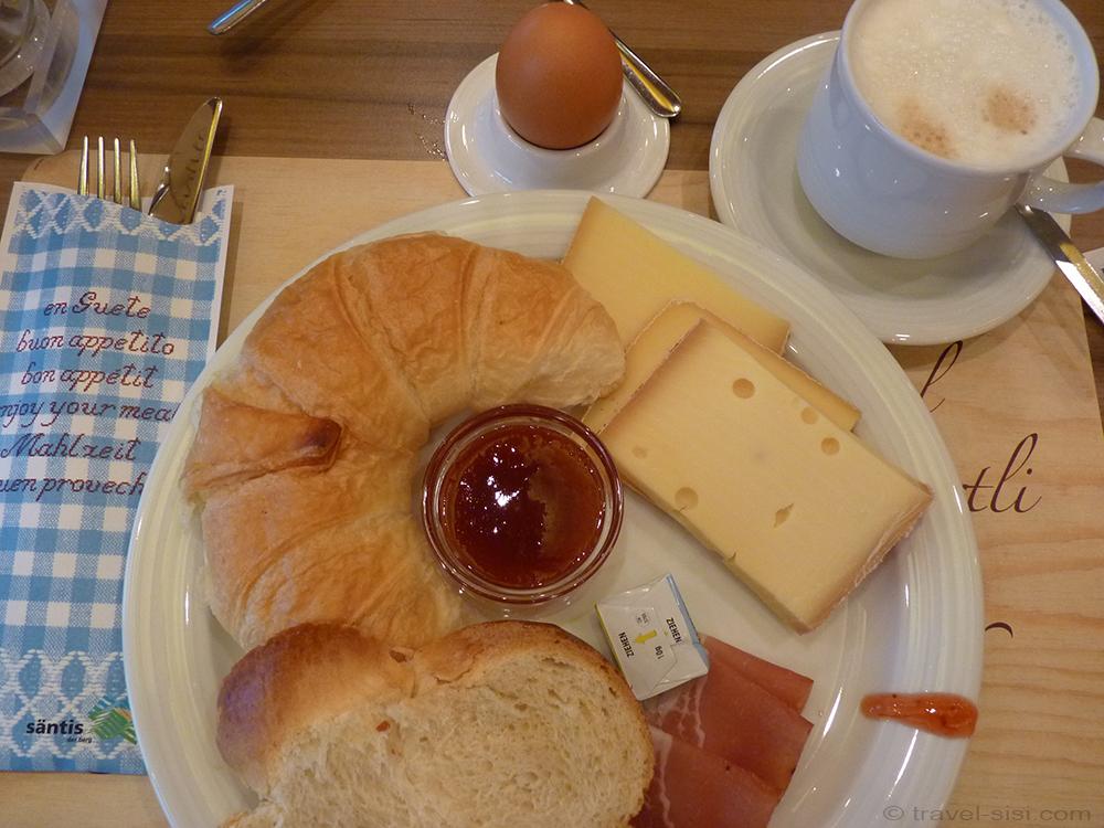 Frühstück auf dem Säntis