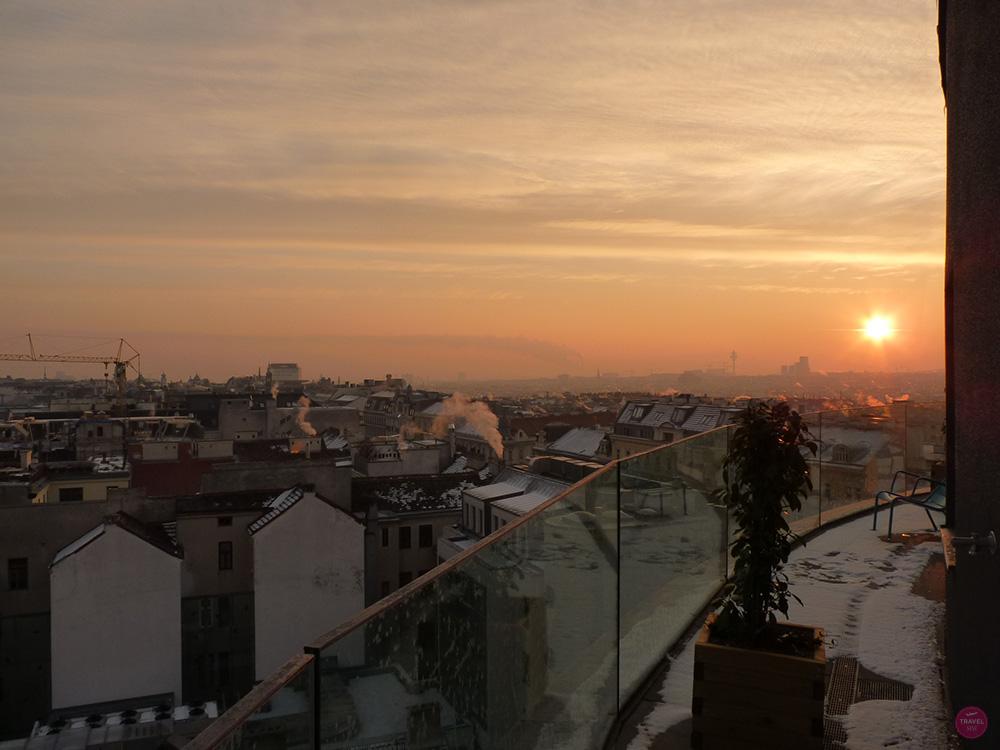 Sonnenaufgang Ruby Marie Hotel Wien