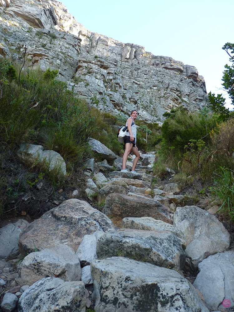 Travel Sisi wandert auf den Tafelberg in Kapstadt