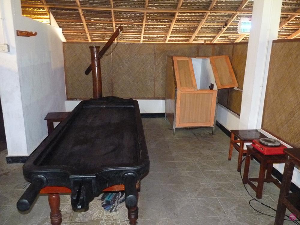 Ayurvedakur Kerala Behandlungszimmer