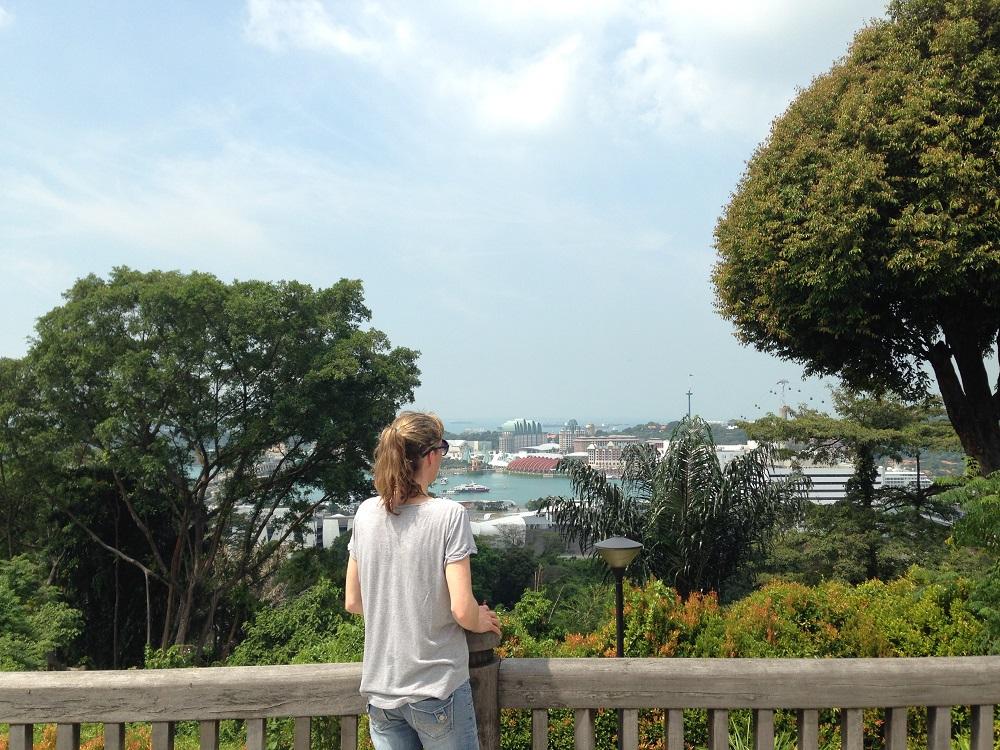 Wanderung in Singapur Southern Ridges Blick auf Sentosa