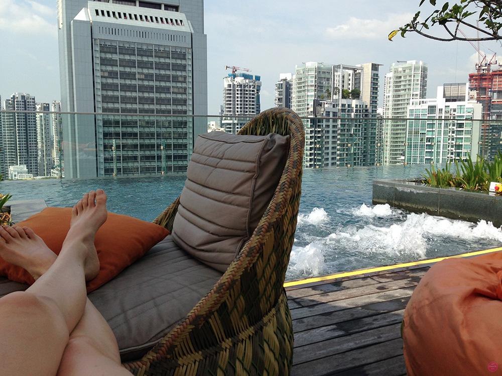 Hotel Jen Orchardgateway Singapur Chillen mit Aussicht