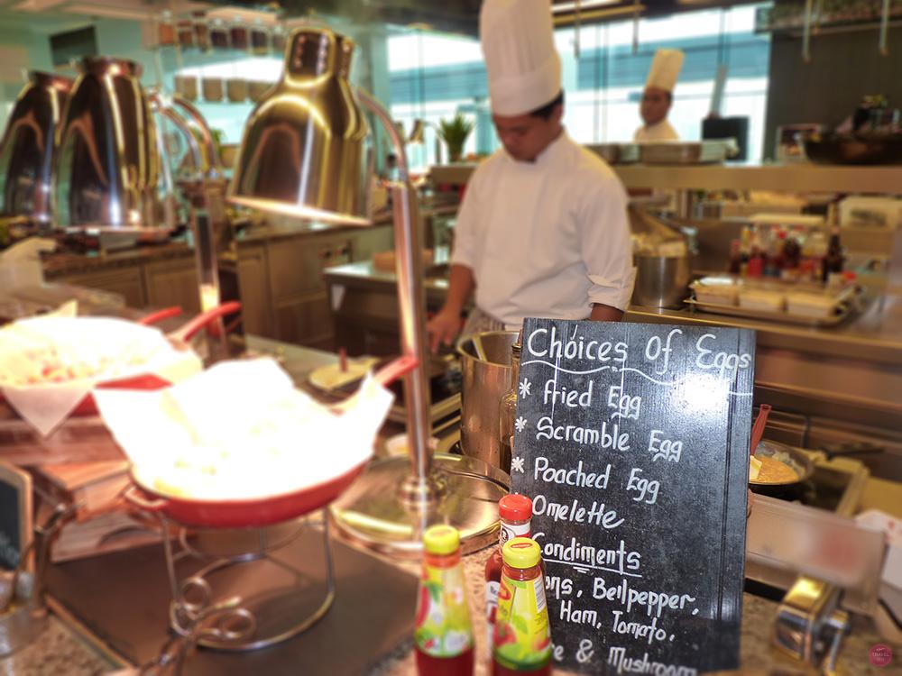 Hotel Jen Orchardgateway Singapur Eierauswahl zum Frühstück