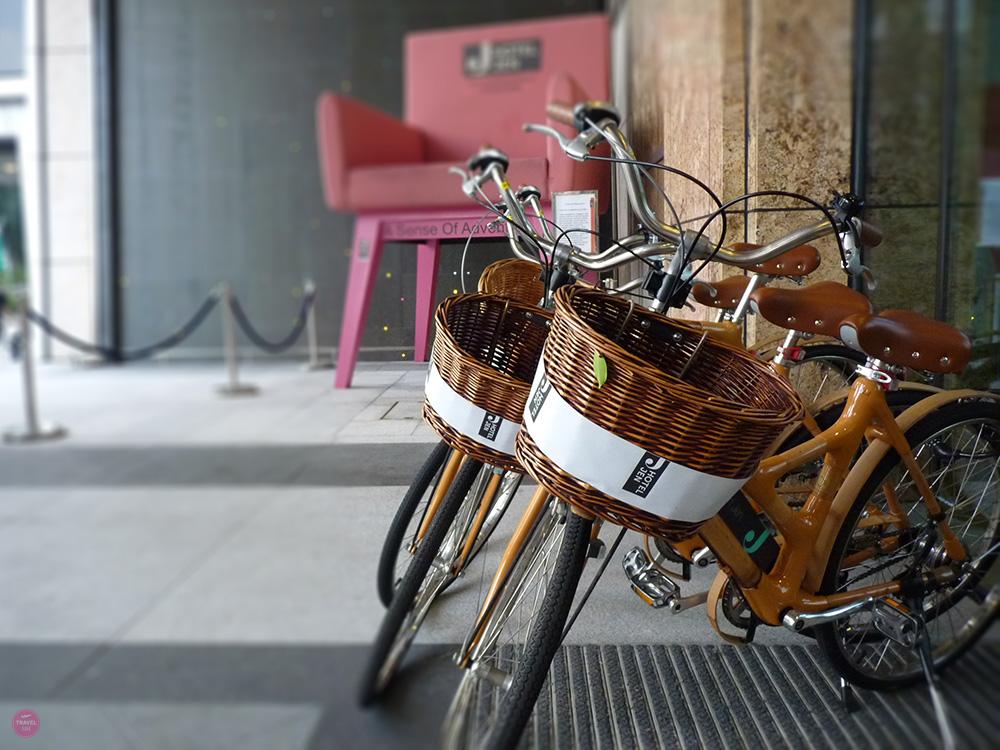 Hotel Jen Orchardgateway Singapur Fahrräder zum mieten