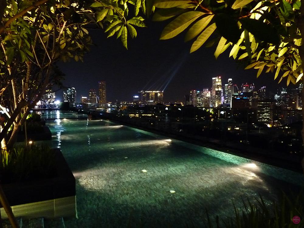 Hotel Jen Orchardgateway Singapur Lasershow Marina Bay Sands Hotel