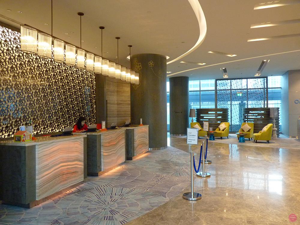 Hotel Jen Orchardgateway Singapur Rezeption - Reiseblog Travel Sisi