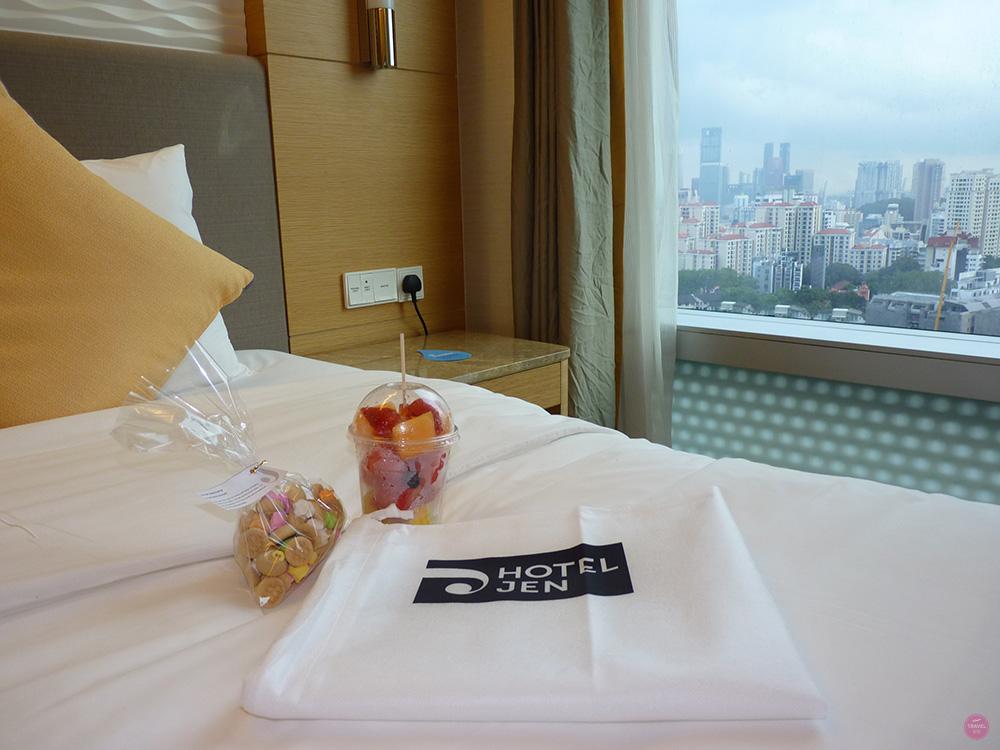 Hotel Jen Orchardgateway Singapur Schlafzimmer