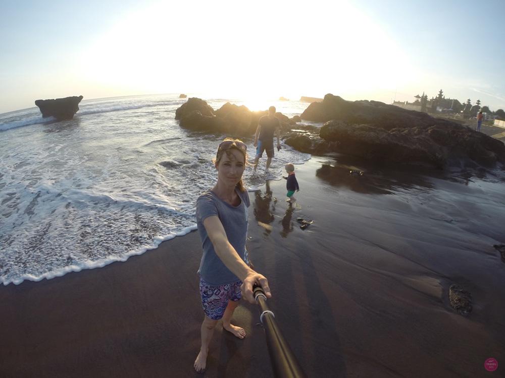 Mit Kleinkind in Bali Sonnenuntergang am Echo Beach