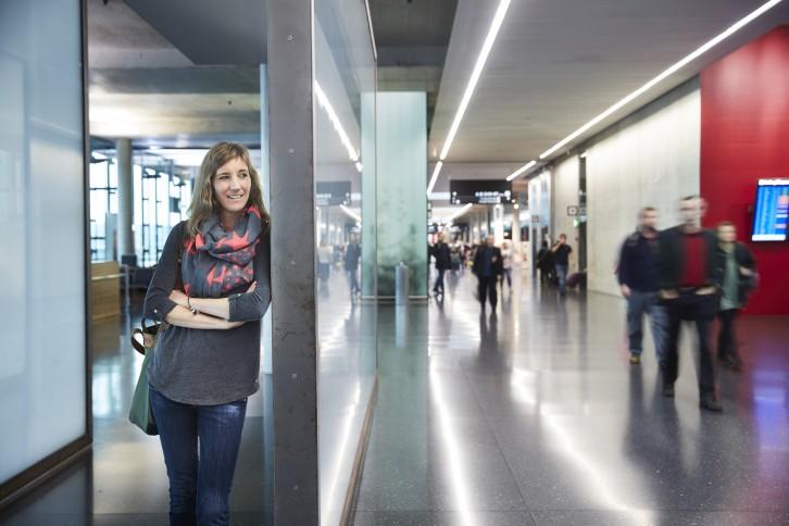 Travel Sisi am Flughafen Zürich. Fotograf: Markus Bertschi