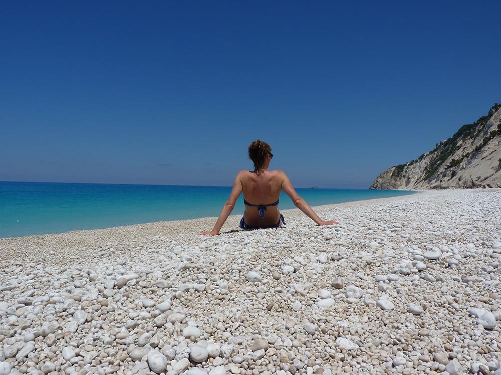Reisetipps Lefkada Travel Sisi am Egremni Beach