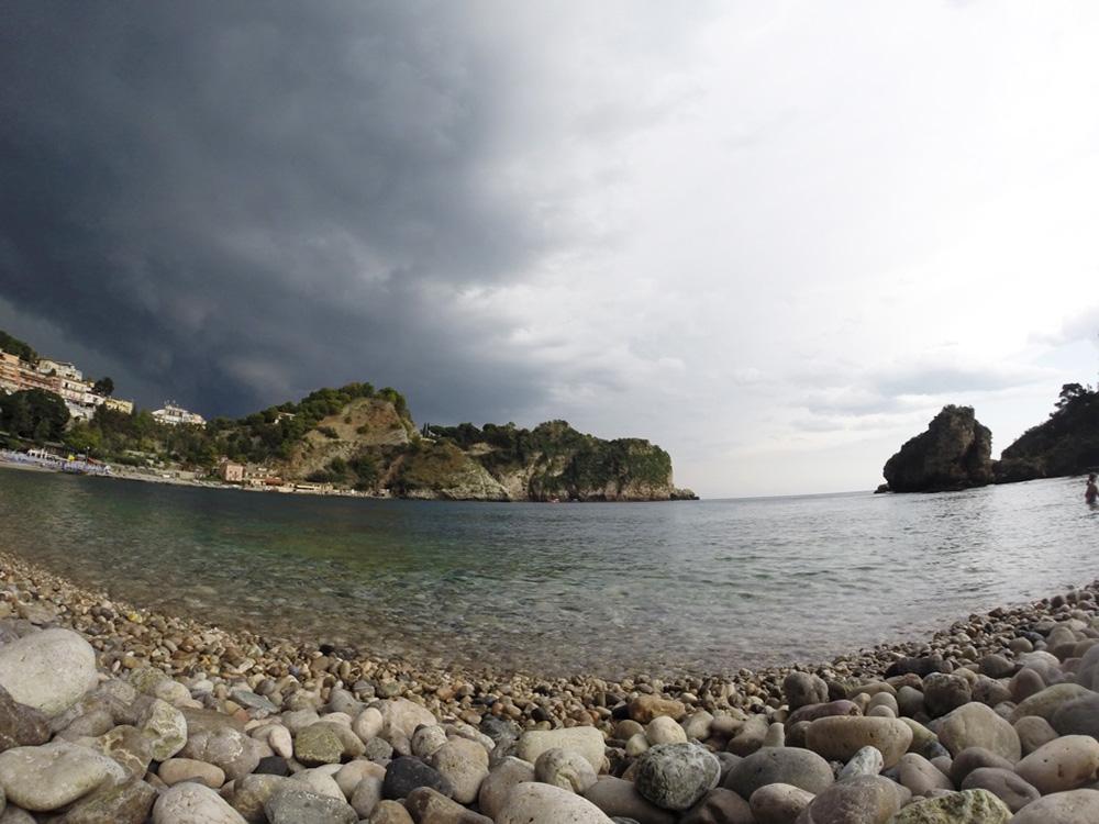 Reisetipps Sizilien Isola Bella bei Regenwetter