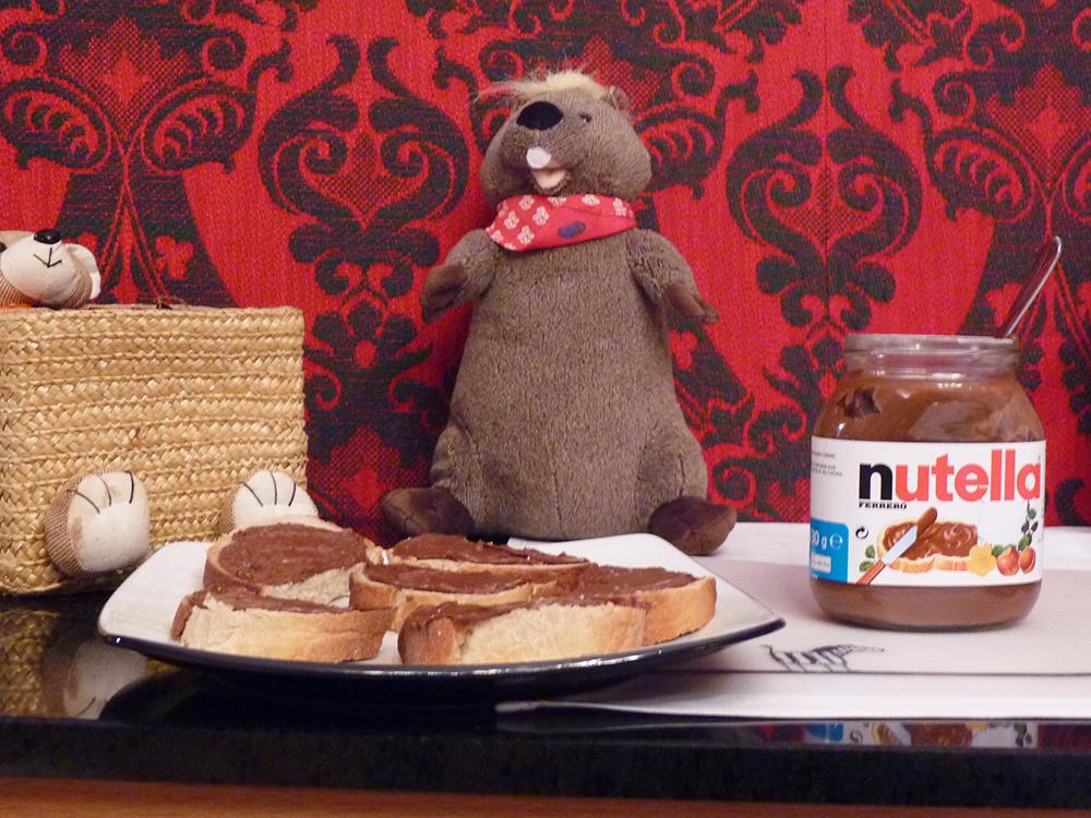Märchenhotel Bellevue Nutellabrote zum Frühstück