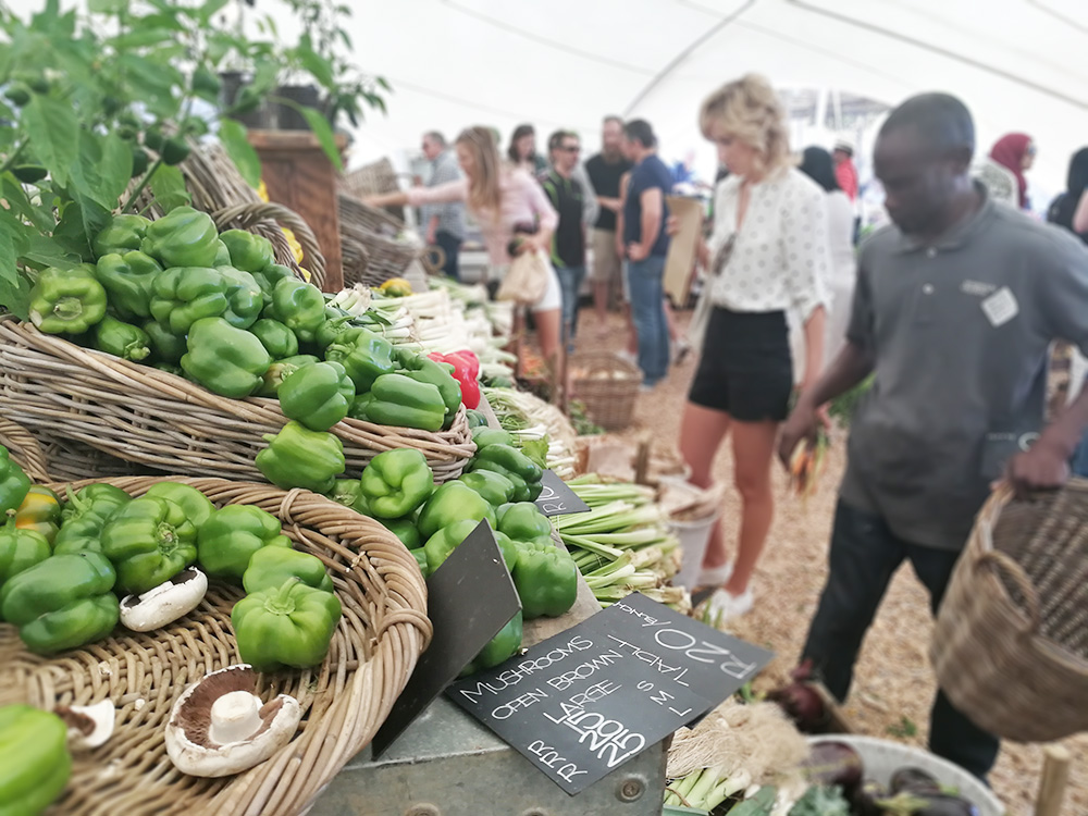 Kapstadts beste Märkte OZCF at Granger Bay frisches Gemüse