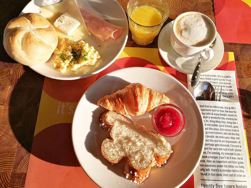 25hours Hotel Wien Museumsquartier leckeres Frühstück