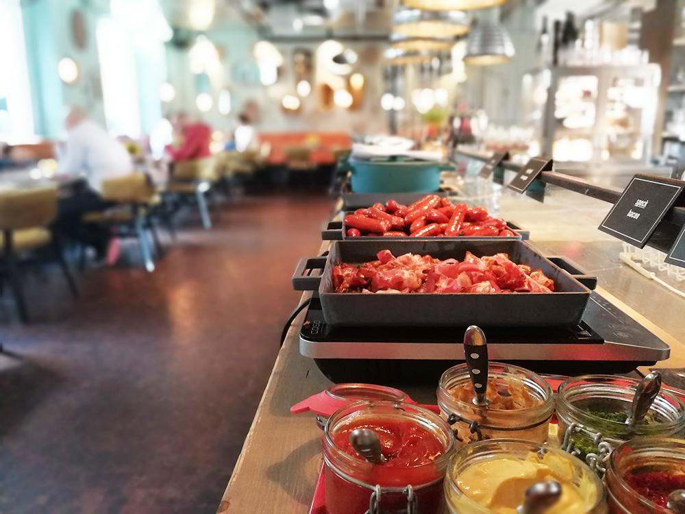 25hours Hotel Museumsquartier Wien leckeres Essen zum Frühstück