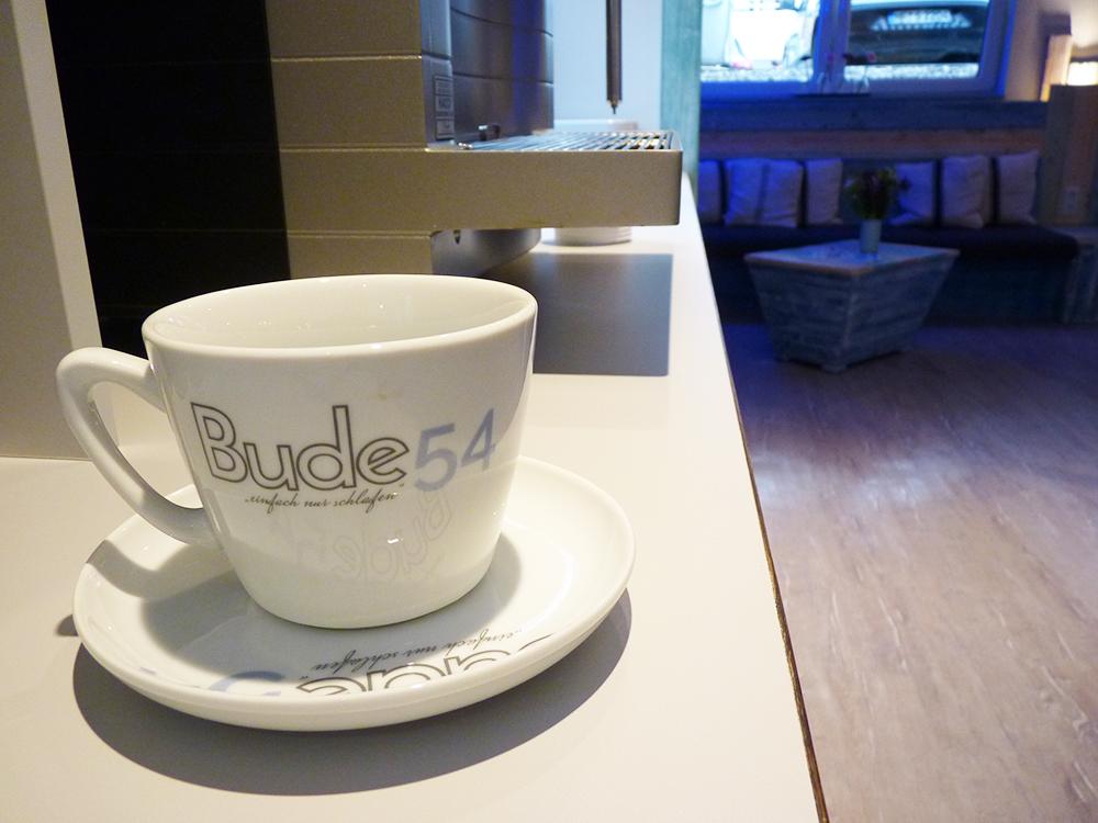 Hoteltipp SPO Bude54 Kaffee und Tee im Wohnzimmer