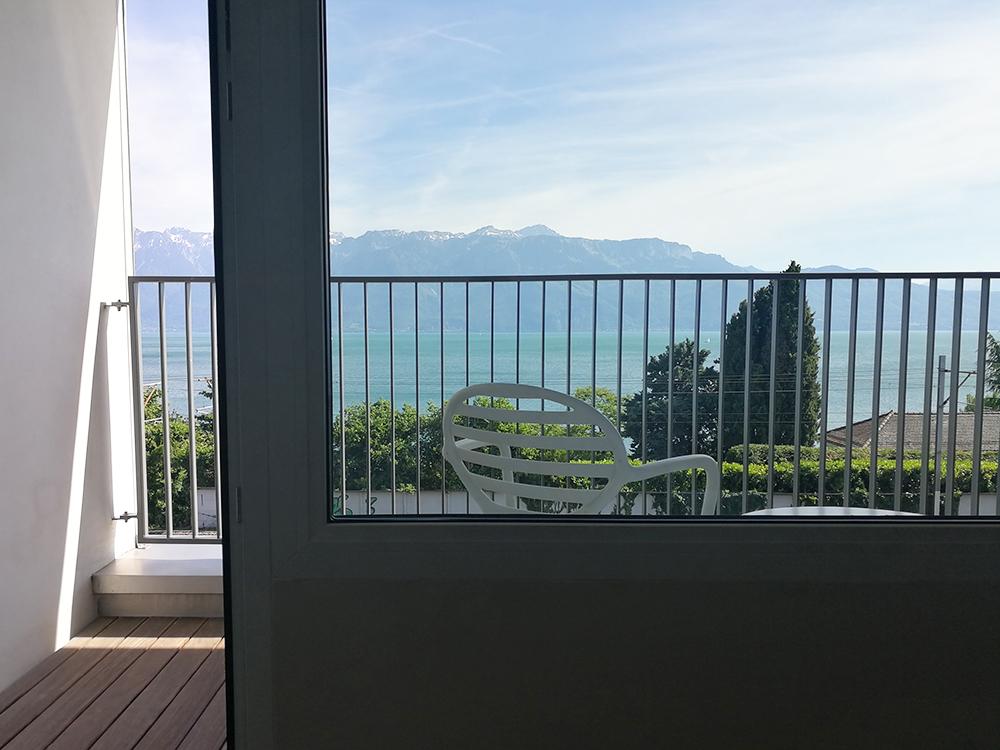 Hotel Lavaux tolle Aussicht vom Balkon