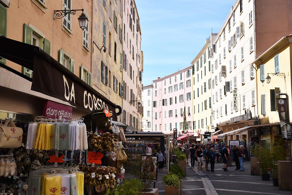 Reisetipps Korsika Ajaccio Einkaufsstrasse