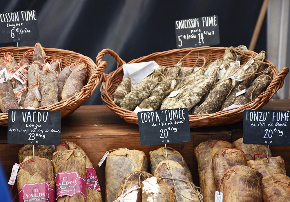 Reisetipps Korsika leckere Wurstwaren
