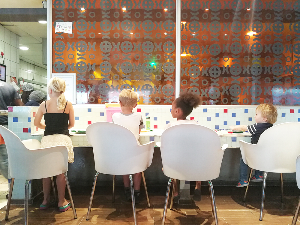 Kapstadt mit Kleinkind Pizza für Kinder Primi in Blouberg