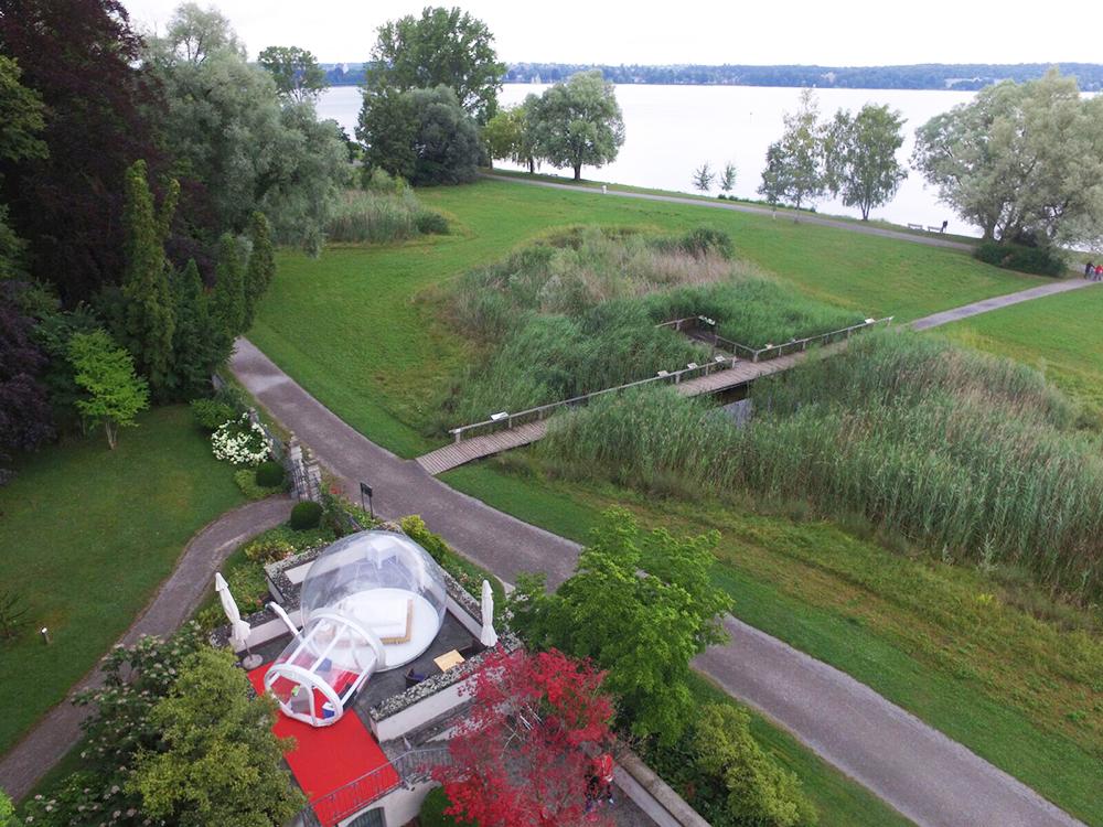 Thurgauer Bubble-Hotel Blick auf den See
