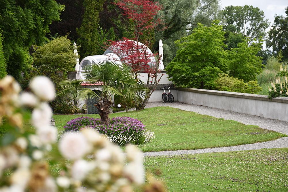 Thurgauer Bubble-Hotel das Himmelbett im Seeburgpark mit den Mietvelos