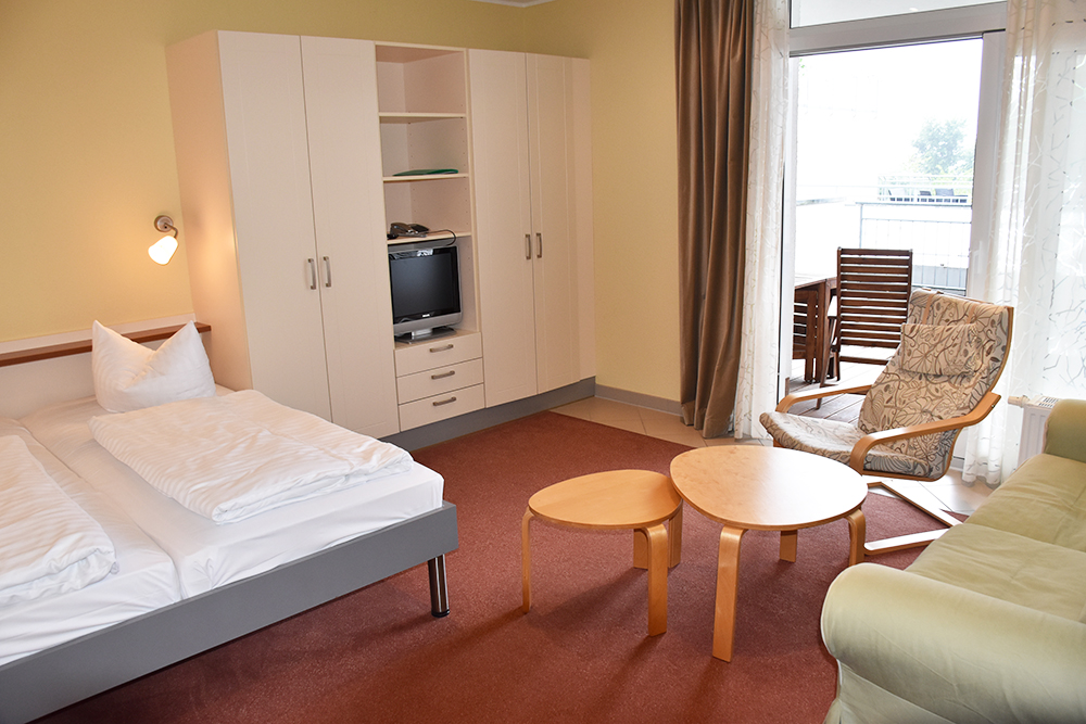 Aparthotel Seepanorama Mirow Appartement Strandläufer Classic mit Balkon