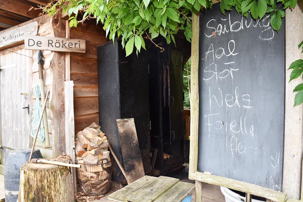 Radtour Müritz Nationalpark Räucherei beim Fischer und Anglerhof Bolter Schleuse