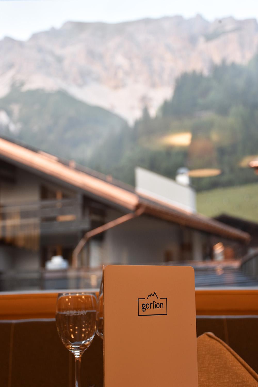 Gorfion das Familienhotel Aussicht von unserem Essstisch