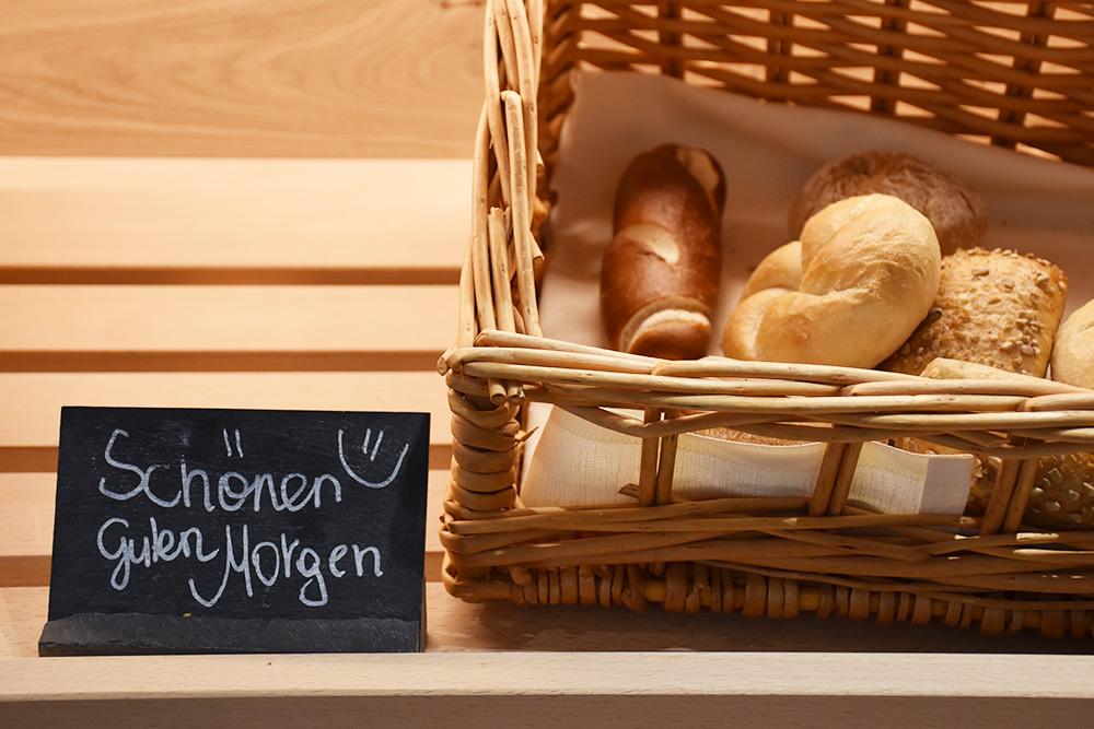 Gorfion das Familienhotel Brot und schönen guten Morgen