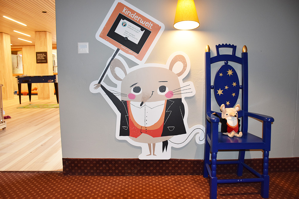 Gorfion das Familienhotel Eingang in die Kinderwelt