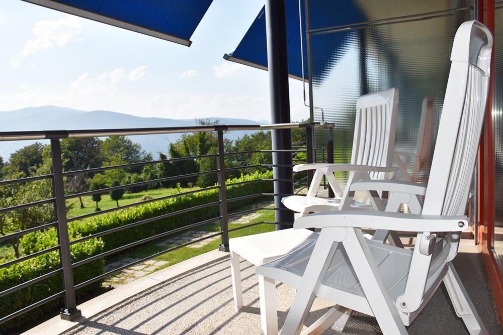 Hotel Serpiano Tessin Balkon vom Superior Zimmer