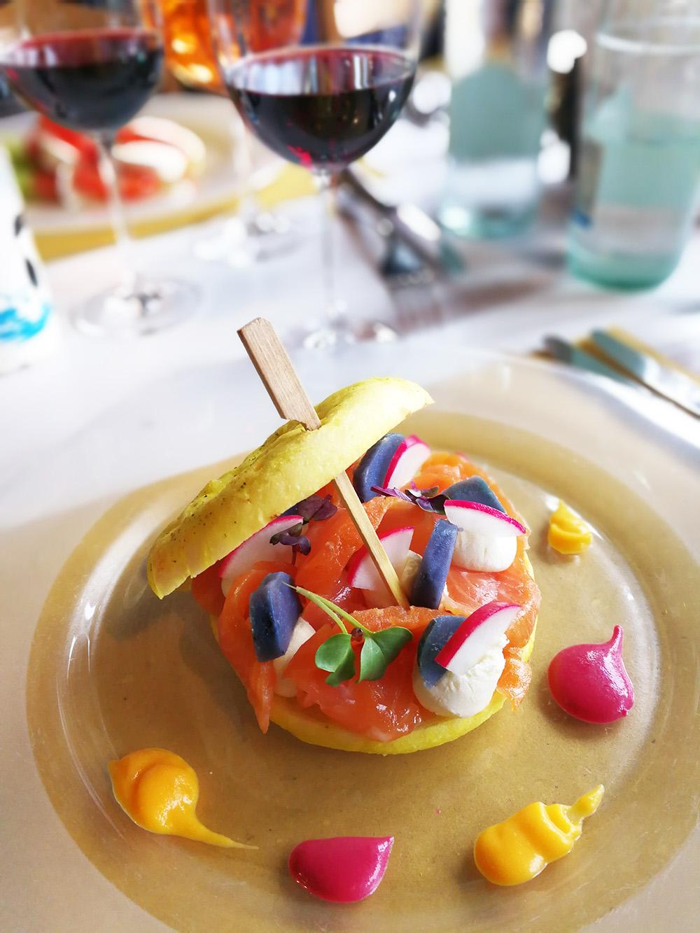 Hotel Serpiano Tessin leckere Vorspeise im Restaurant