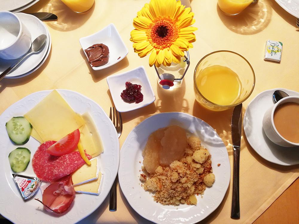 Panoramagasthof Kristberg Auswahl zum Frühstück