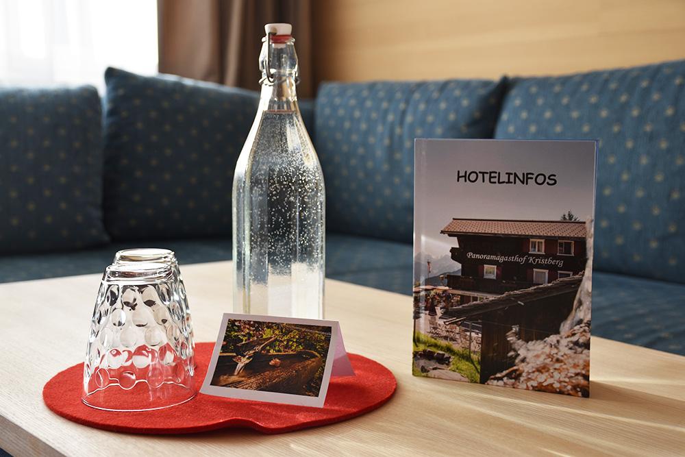 Panoramagasthof Kristberg Wasser und Hotelinfos