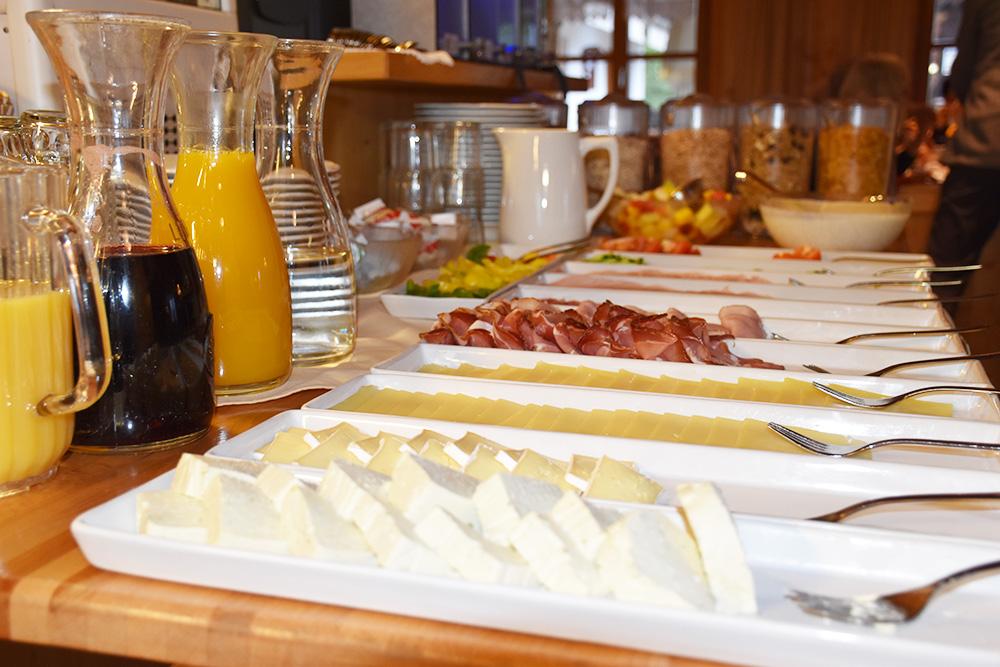 Panoramagasthof Kristberg wunderbare Auswahl zum Frühstück